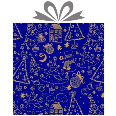 """Бумага оберточная новогодняя """"Полночь"""" для упаковки подарков"""