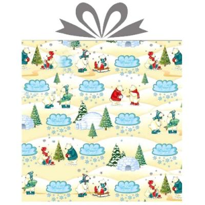 """Бумага оберточная новогодняя """"Северный полюс"""" для упаковки подарков"""