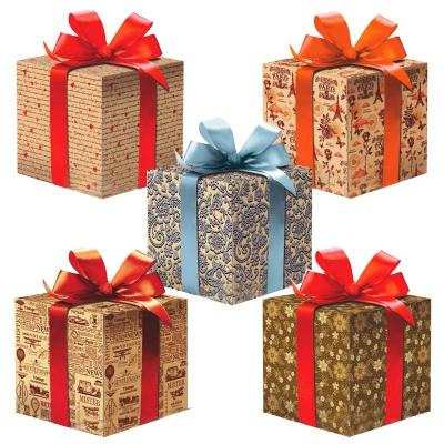"""Оберточная крафт-бумага """"Микс №32"""" для упаковки подарков"""