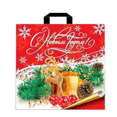 """Подарочный пакет """"Новогодняя сказка"""" 45х45, 70 мкм, новогодняя упаковка"""