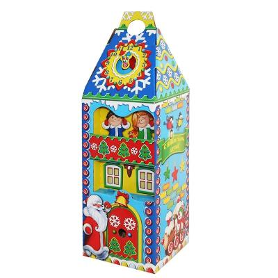 Новогодняя упаковка «Башня-Детская» 1600 гр, картонная подарочная коробка для конфет