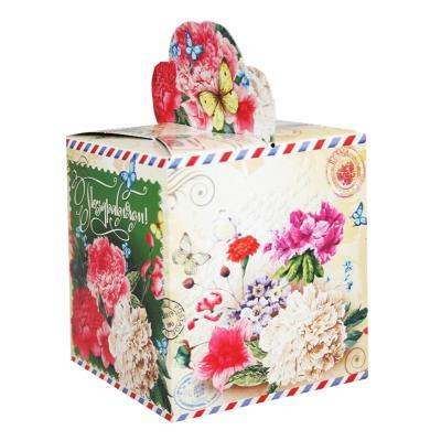 """Подарочная упаковка """"Пионы"""", 400 гр, картонная коробка"""