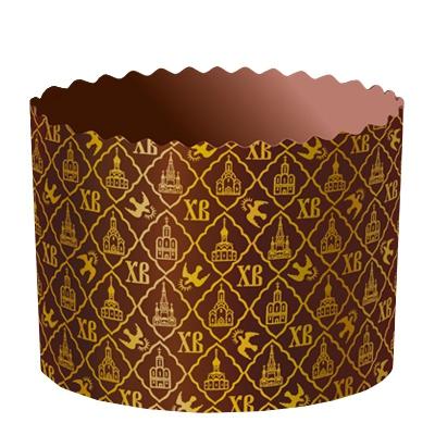 """Бумажные формы для куличей """"ХВ"""" 90х90 мм, 200-220 гр, пасхальные формы для выпечки"""