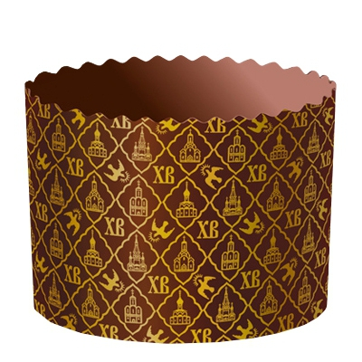 "Бумажные формы для куличей ""ХВ"" 134х100 мм, 500-550 гр, пасхальная форма для выпечки"