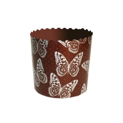 "Бумажные формы для куличей ""Бабочки"" 124х100 мм, 400-450 гр"