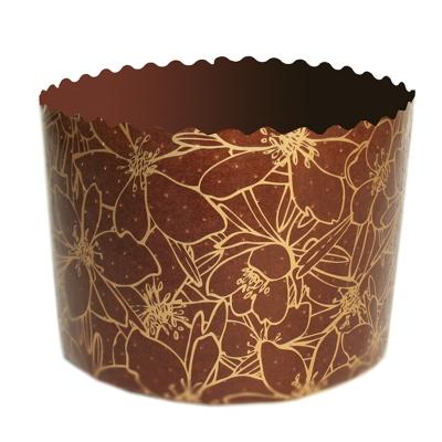 "Бумажные формы для куличей ""Цвет Миндаля"" 70х60 мм, 100 гр"