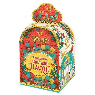 "Коробка подарочная ""Пасхальная-Береста"" ,  для кулича 300-350 гр"