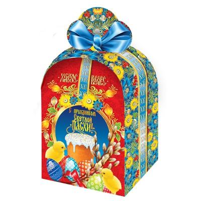 Коробка подарочная «Пасхальная-красная», для кулича 300-350 гр