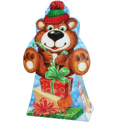 """Подарочная упаковка """"Мишутка"""", 800 гр, картонная новогодняя упаковка для конфет"""