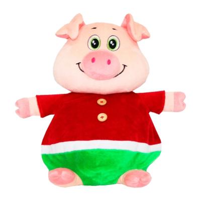 Мягкая игрушка свинка Плюшкин-2, текстильная новогодняя упаковка