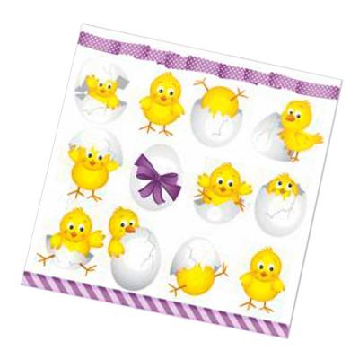 """Салфетки бумажные 3сл., 33x33, """"Пасхальные яйца с цыплятами"""", 20шт."""
