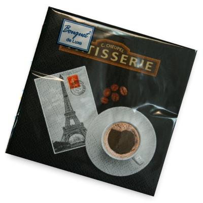 Салфетки бумажные 2сл., 24х24 Bouquet Кофе, 25шт.