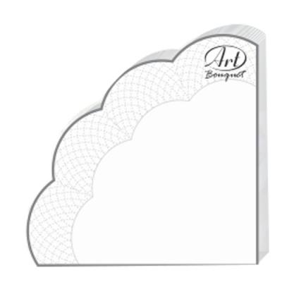 Салфетки бумажные 3сл., d=32 см, Rondo белые, 12 шт.