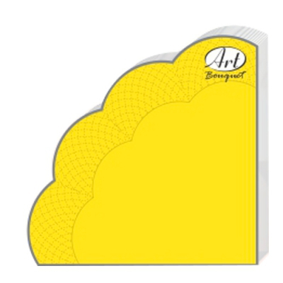 Салфетки бумажные 3сл., d=32 см, Rondo желтые, 12 шт.