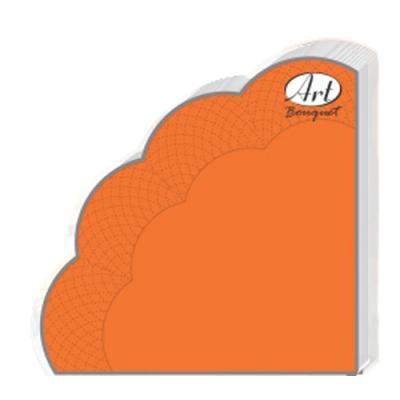 Салфетки бумажные 3сл., d=32 см, Rondo оранжевые, 12 шт.