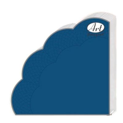 Салфетки бумажные 3сл., d=32 см, Rondo синие, 12 шт.