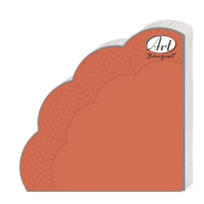 Салфетки бумажные 3сл., d=32 см, Rondo терракотовые, 12 шт.