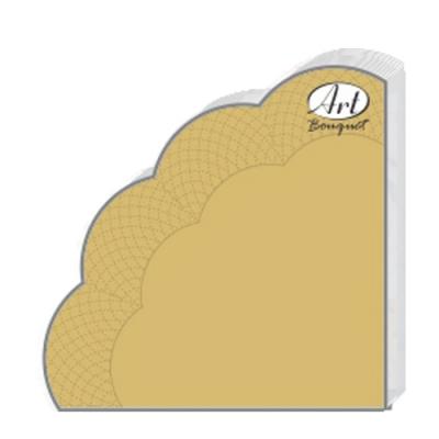 Салфетки бумажные 3сл., d=32 см, Rondo Gold, 12 шт.