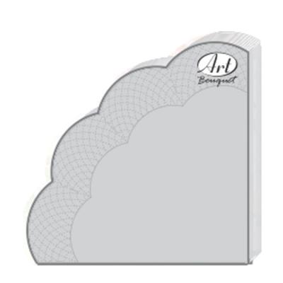 Салфетки бумажные 3сл., d=32 см, Rondo SILVER, 12 шт.