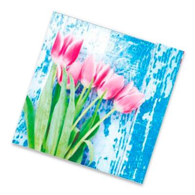 """Салфетки бумажные 2сл., 33х33, """"Красные тюльпаны"""", 20шт."""