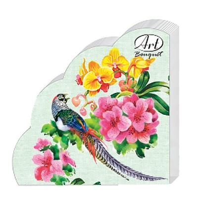 Салфетки бумажные 3сл., d=32 см, Rondo Райский сад, 12 шт.