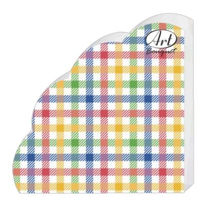 Салфетки бумажные 3сл., d=32 см, Rondo Цветная скатерть, 12 шт.