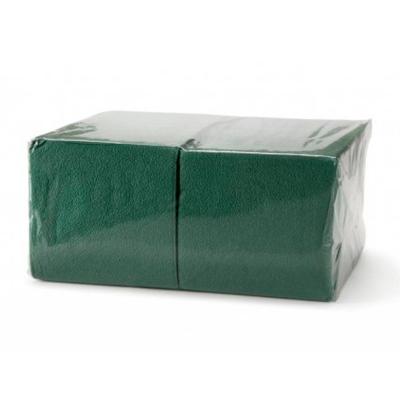 """Салфетки бумажные 1сл., 24х24 """"БигПак"""" Эконом зеленый"""