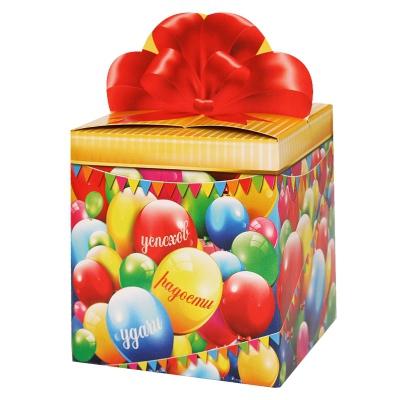 """Подарочная упаковка """"Шарики"""", 400гр, картонная коробка"""