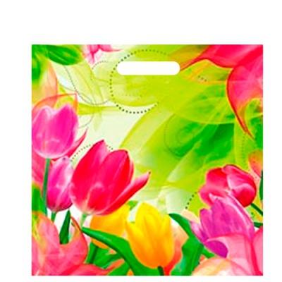 """Пакет """"Тюльпаны"""" 45х45, 70 мкм"""