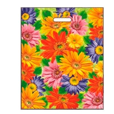 """Пакет """"Цветы"""" 38х47, 60 мкм"""