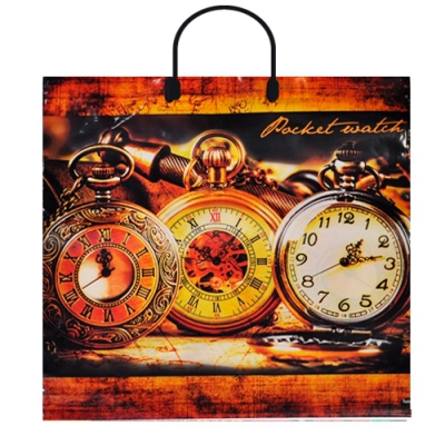 """Пакет """"Ретро часы"""", 38х36, 90 мкм"""