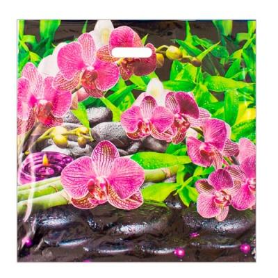 """Пакет """"Ветка орхидеи"""" 45х45, 70 мкм"""