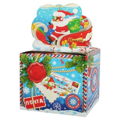 """Подарочная коробка """"Посылка"""", 800 гр, картонная новогодняя упаковка для конфет"""