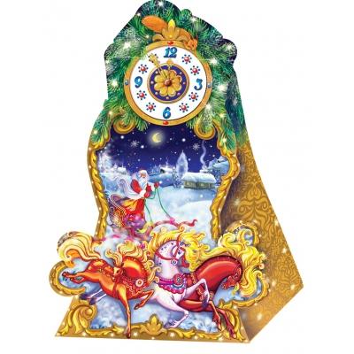 """Подарочная коробка """"Часики-Тройка"""", 800 гр, картонная новогодняя упаковка для конфет"""
