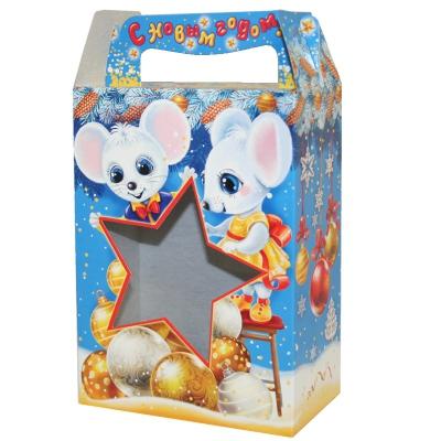 """Подарочная коробка """"Настроение 1.0"""", 1000 гр, картонная новогодняя упаковка 2020 год мыши, крысы"""