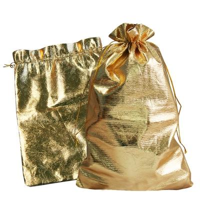 """Мешочек из парчи """"Золото"""" 1000 гр, текстильная новогодняя упаковка для подарков, конфет"""