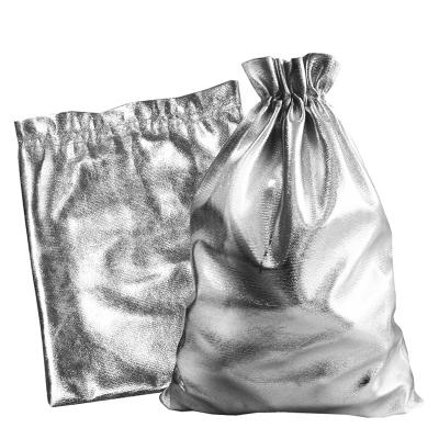 """Мешочек из парчи """"Серебро"""" 1000 гр, текстильная подарочная упаковка"""