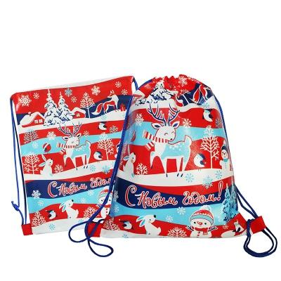 """Рюкзачок-мешок """"Новогодний"""", 1800 гр, текстильная новогодняя упаковка для подарков, конфет"""