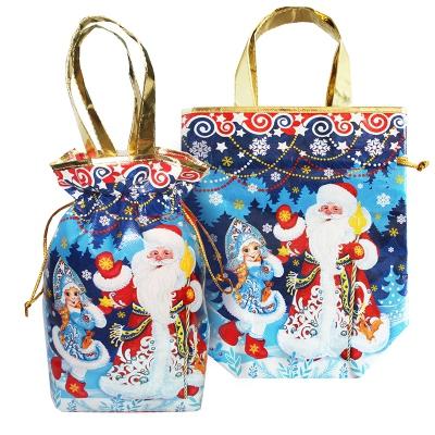 """Подарочная сумка-мешок с двумя ручками """"Морозко"""" 1300 гр, новогодняя упаковка для конфет"""