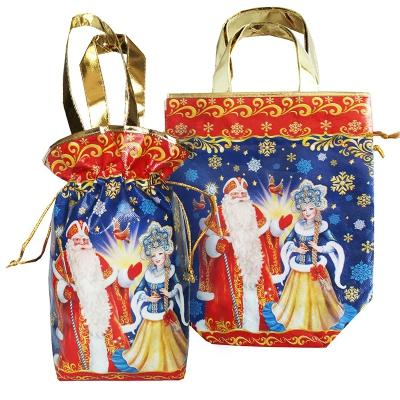 """Подарочная сумка-мешок с двумя ручками """"НГ Дуэт"""" 1600 гр, новогодняя упаковка для конфет"""