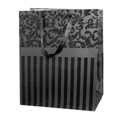 """Пакет подарочный """"Черный"""" тиснение, L"""