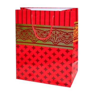 """Пакет подарочный кант люкс """"Красный"""" с тиснением L"""