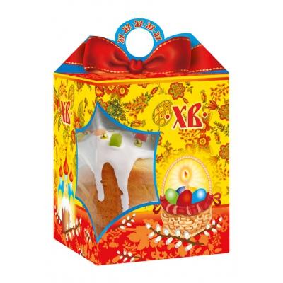 Коробка подарочная  «Красный бант» с окном, 750-800 гр