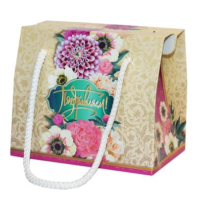 """Подарочная упаковка """"Лента"""", 800 гр, картонная коробка с веревочными ручками"""