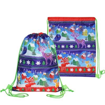 """Детский рюкзачок """"ЗИМНИЙ"""", 2200 гр, новогодняя упаковка для подарков, конфет"""