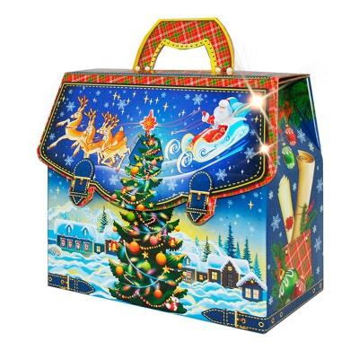 """Подарочная упаковка """"Портфельчик-Ёлочка"""" 1600-1800 гр, картонная коробка для конфет"""
