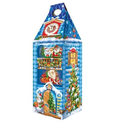 """Новогодняя упаковка """"Терем Ледяной"""", 1600 гр, картонная подарочная коробка для конфет"""