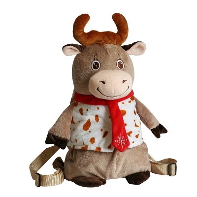 Рюкзак бычок ДЖОНАТАН, 1600 гр, новогодняя упаковка для подарков, конфет 2021 год быка