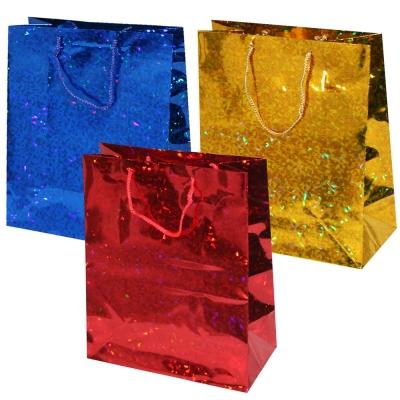 Пакет подарочный  Голография, M (3 цвета)