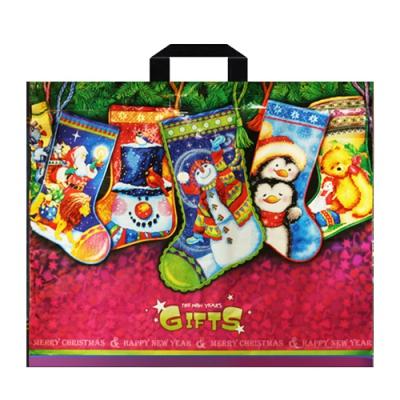 Подарочный новогодний пакет Гостинцы 60х50, 70 мкм